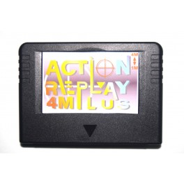 Action replay plus 4M Sega Saturn (negro)