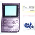 Carcasa GameBoy Pocket morada transparente