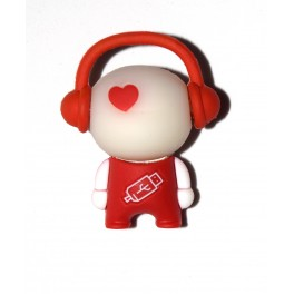 Pendrive USB 2.0 8Gb. Muñeco auriculares