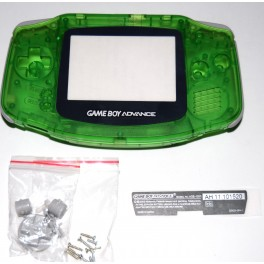 Carcasa GameBoy Advance Verde Transparente
