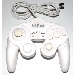 Outlet  Mando compatible Gamecube/Wii blanco