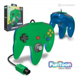 Mando Nintendo 64 Captain verde/azul Funtoon Collector's Edition