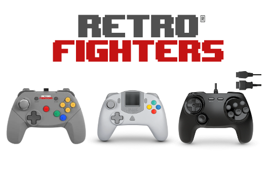Gama de mandos de Retro Fighters