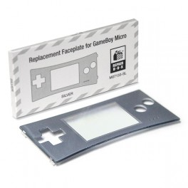 Frontal GameBoy Micro (plata)