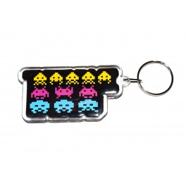Llavero Space Invaders Insert Coin